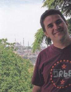 Andrés en la Mezquita Azul (Estambul)