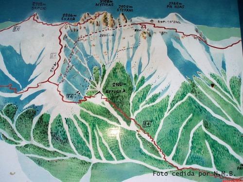 Mapa Ruta E-4 al Skolio