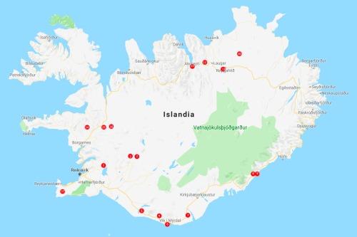 mapa Islandia, 2018 1