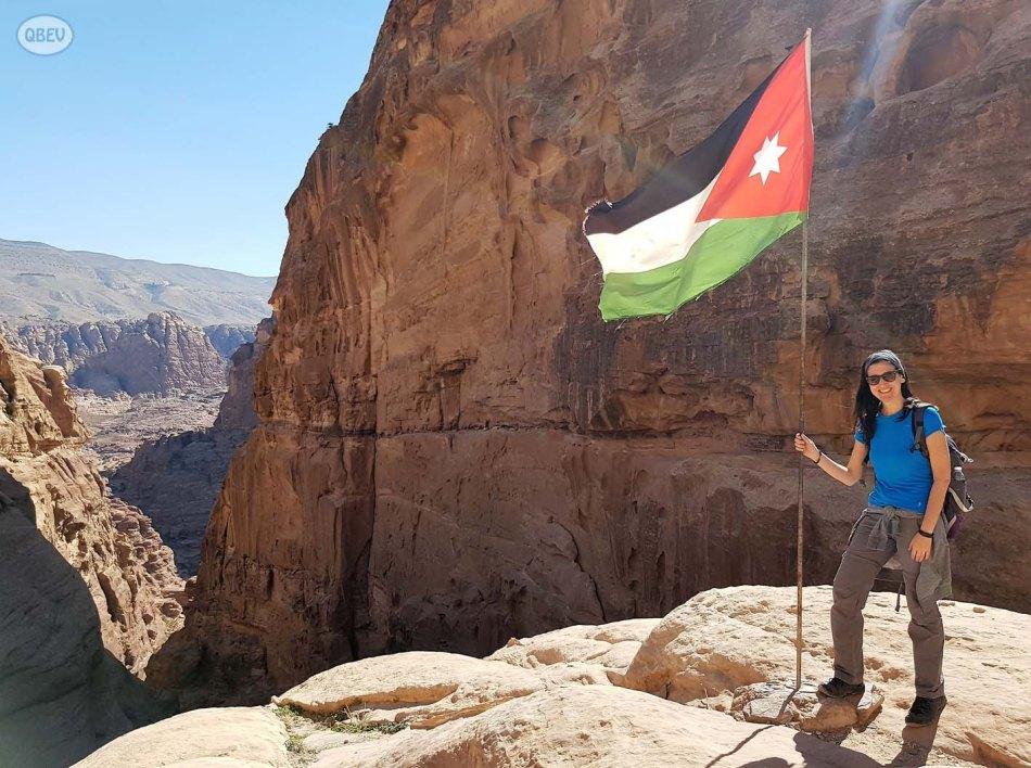 Foto con la bandera
